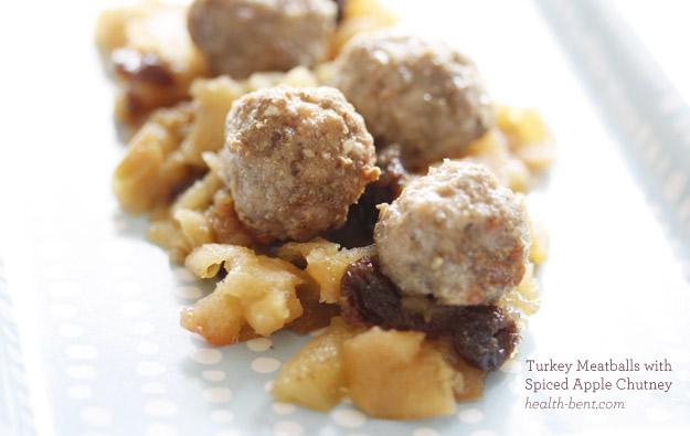 Turkey Meatballs with Spiced Apple Chutney